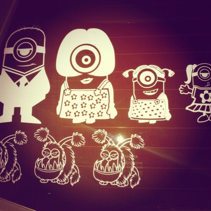 Best  DW Vinyl Decals On Etsy Images On Pinterest Products - Minion custom vinyl decals for car