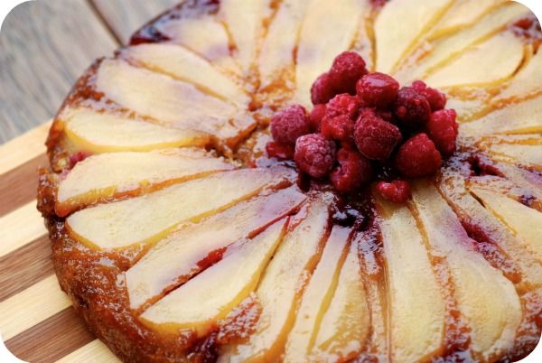 Pear, Ginger and Raspberry Cake - Saute Pan Recipes