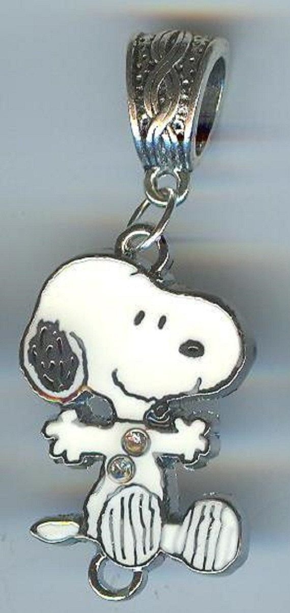 Snoopy Dog W Crystals Jumping Character Charlie Brown
