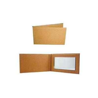 Espejo ecológica de cartón reciclado. Colores: Café Medida: 9 x 5 cm.