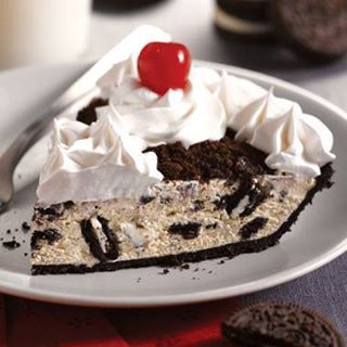 Nothing easier than this pie!  I used Chocolate pudding and a premade Chocolate Crust!!  YUMMY!! http://FourSeasonGourmet.com/oreo-cream-pie-2/