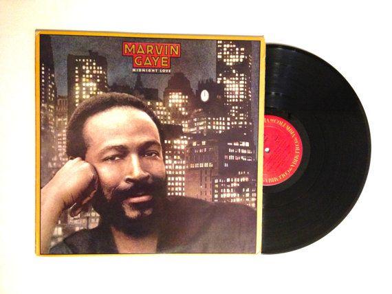 JANUARY SALE Marvin Gaye Midnight Love Vinyl by CharmCityRecords