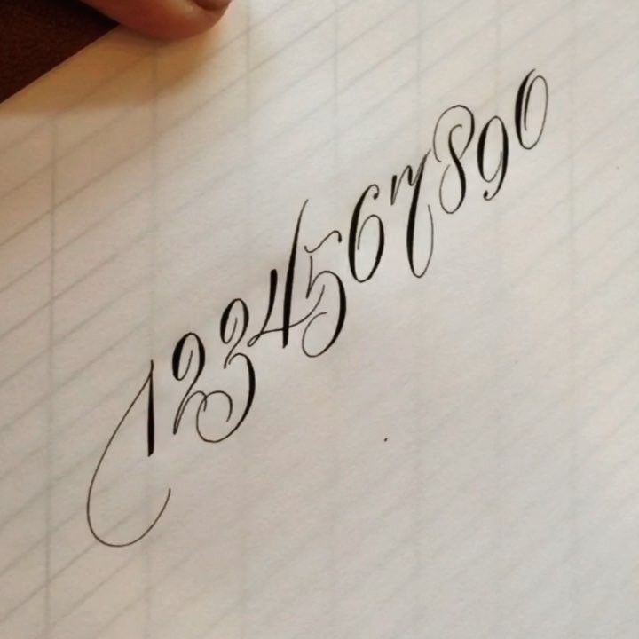 """4,202 Likes, 129 Comments - Suzanne Cunningham (@suzcunningham) on Instagram: """"Practice time with number variations . #calligraphy #calligraphymasters #numbers #flourish…"""""""