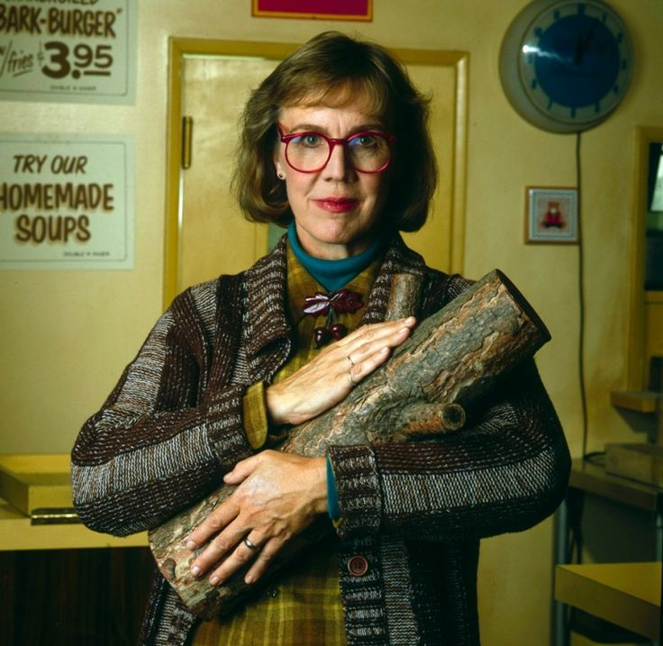 """My log saw something that night.""  Rest in peace, Catherine Coulson aka The Log Lady 29 September 2015"