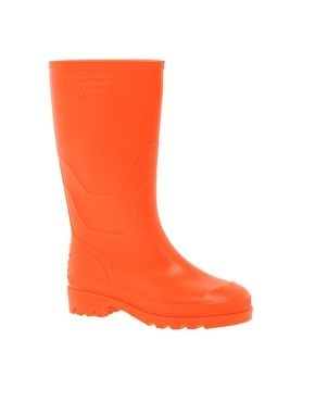 Image 1 ofJuju Orange Wellington Boots