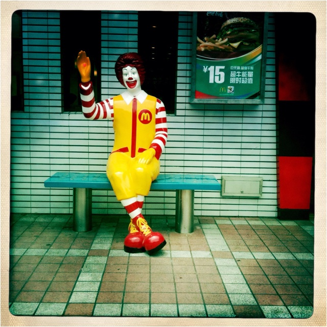 Ronald McDonald in Shenzhen, China...