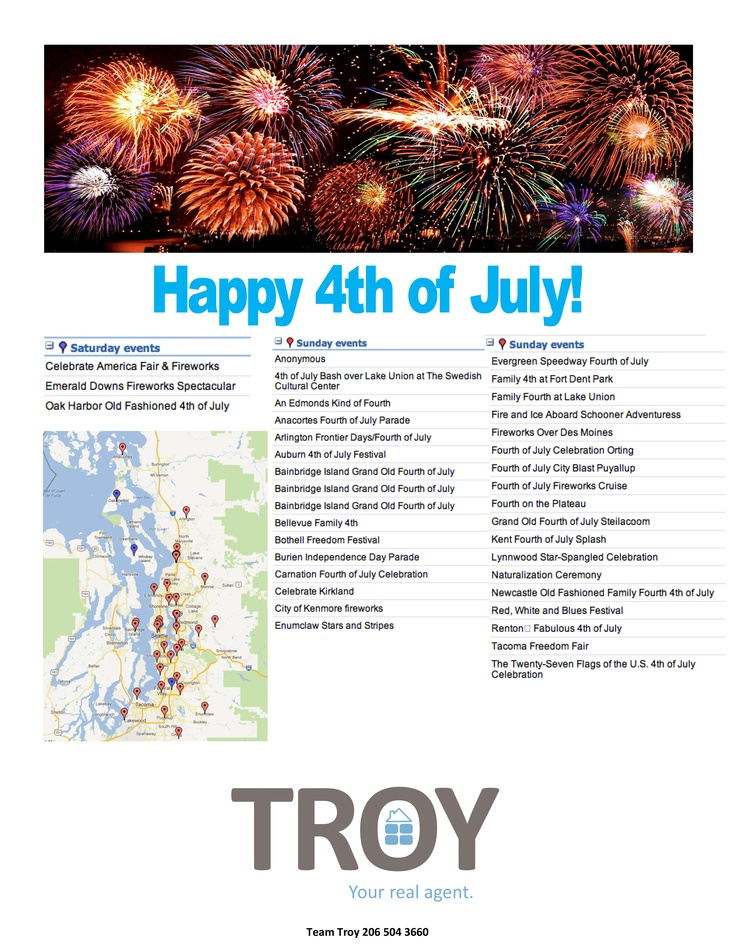 calendar for july 4th 2013