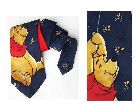 Incredible Vinatge Necktie by Disney winnie the pooh by MensSilk