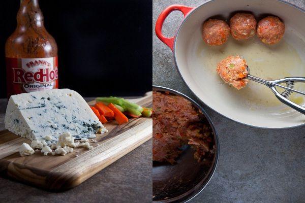 Crock Pot Buffalo Chicken Meatball Subs
