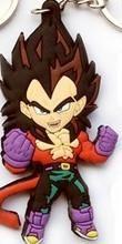 Anime Dragon Ball Monkey Keychain Son Goku Super Saiyan Silicone PVC Keychain action figure pendant Keyring Collection toy ZKDBF