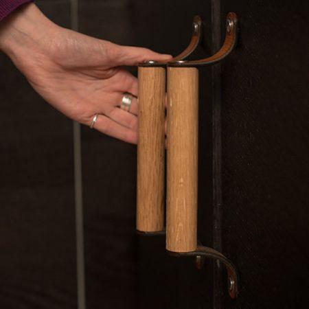 leather dowel diy cabinet handles