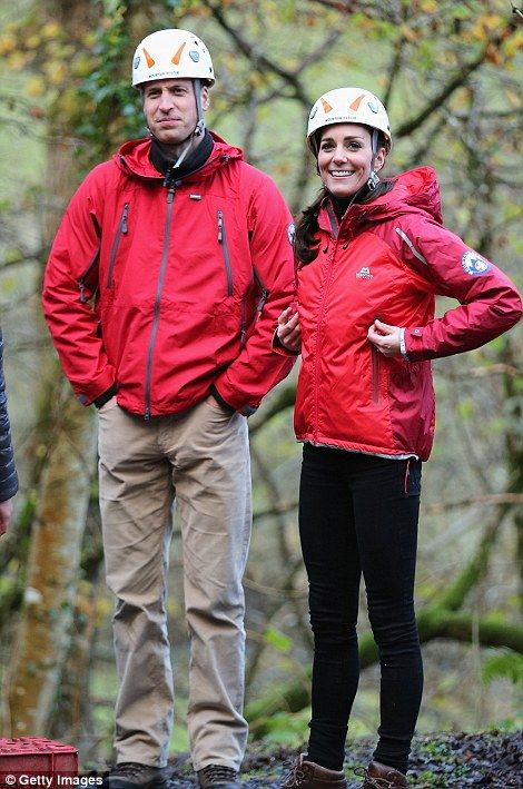 The sporty royal, who donned tight leggings, brown boots and a helmet, was in high spirits...