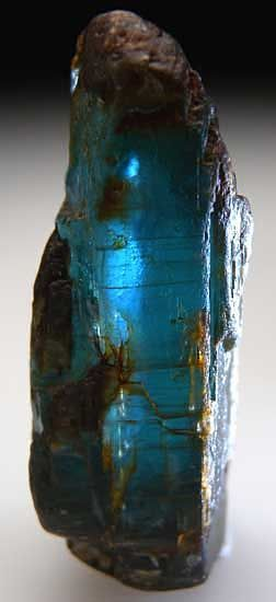 Kyanite: an excellent stone for meditation with supreme energy amplifying properties; it enhances psychic ability and one's connection with nature; never needing cleansing, it does not hold negativity.