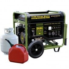 Sportsman 7,500-Watt Dual Fuel Generator with Electric Start and Runs on LPG or Regular Gasoline