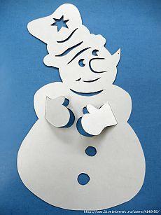 Трафареты для деток *Снеговики*.