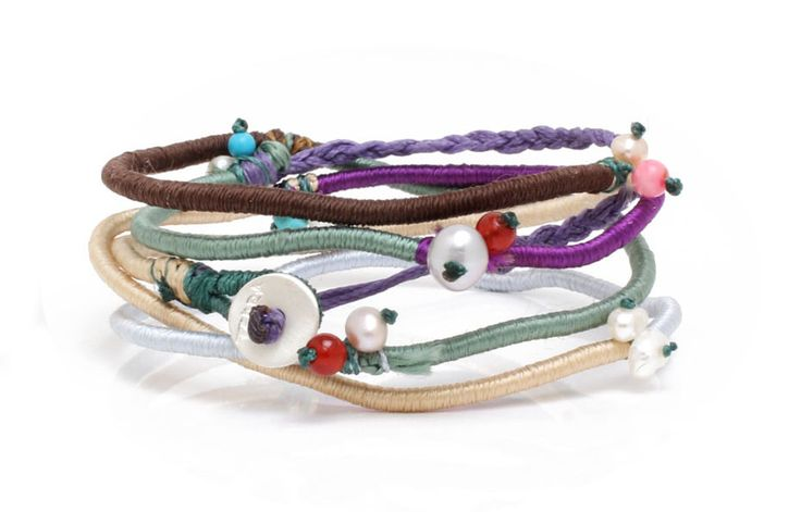 Bracelet Handmade Colorful Braided Threads