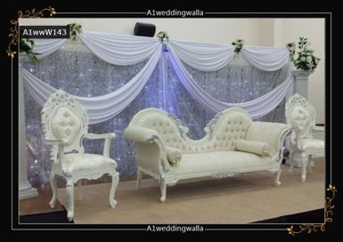 Browse here for decorative wedding sofa on hire in UK. For booking call us at 7958 330043 or visit a1ww.co.uk. #WeddingSofa #DecorativeWeddingSofa #RoyalWeddingSofa #WeddingStageDecoration
