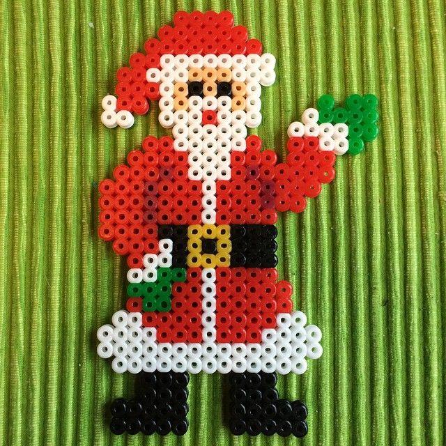 Santa Claus Christmas hama beads by petrawettero