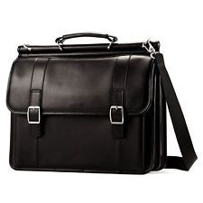 Samsonite Leather Leather Dowel Flapover Business Case