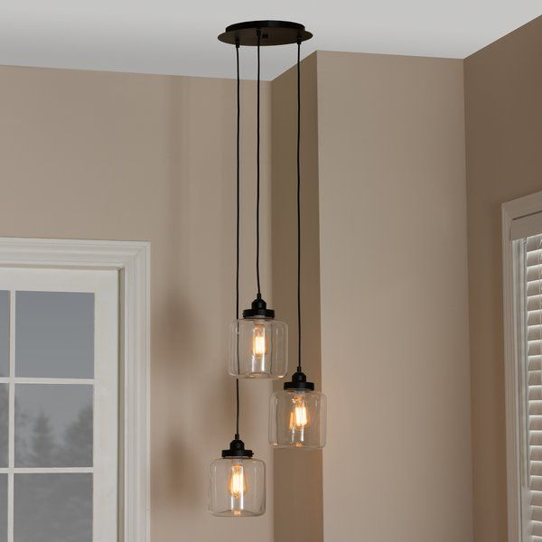 Add An Industrial Chic Vibe To Your Space With This Jar 3 Light Cluster Pendant This Collection Features Jar Pendant Light Rustic Light Fixtures Pendant Light