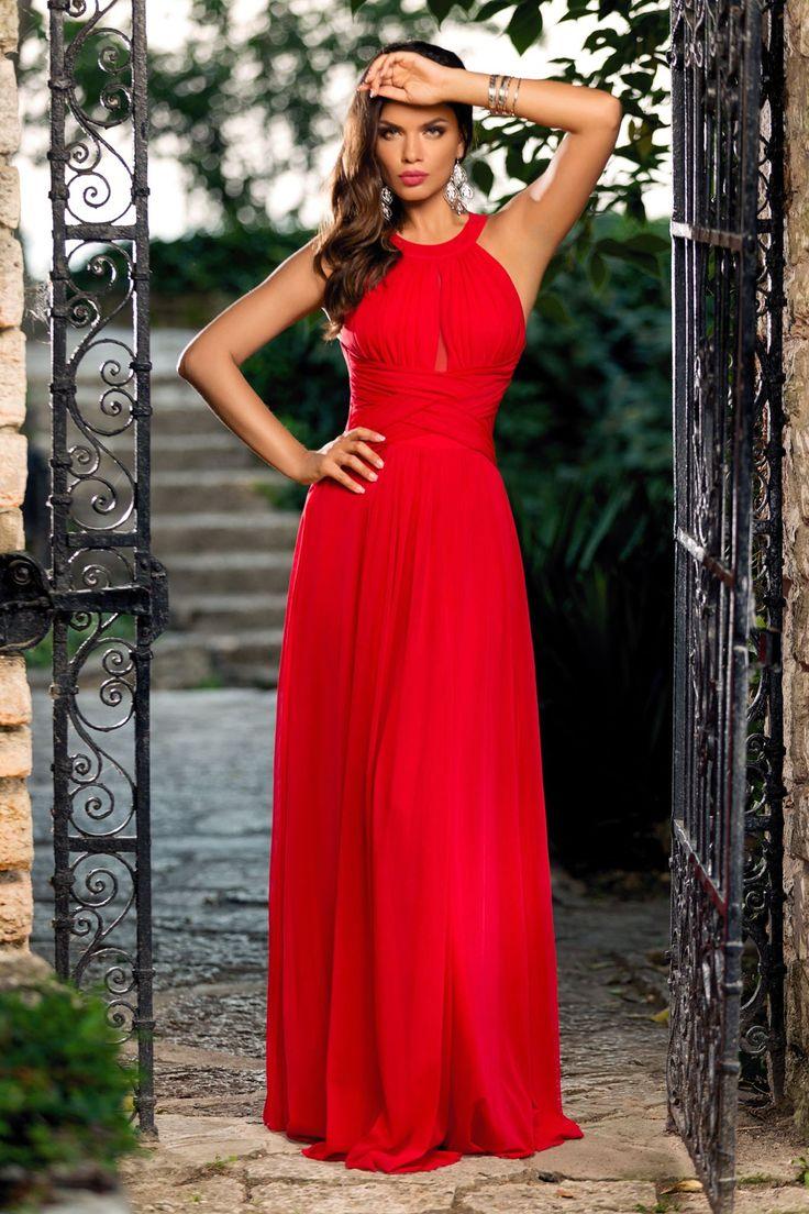 Rochie Rossana Rosie 299 lei Rochie de seara rosie eleganta