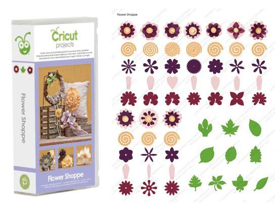 cricut flower shoppe cartridge | ... With The Cricut Projects Flower Shoppe Cartridge | Mixology Crafts