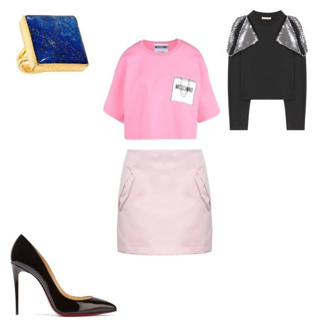 """""""Untitled #118"""" by omaimet on Polyvore featuring N°21, Moschino, Christopher Kane, Christian Louboutin and Primadina"""