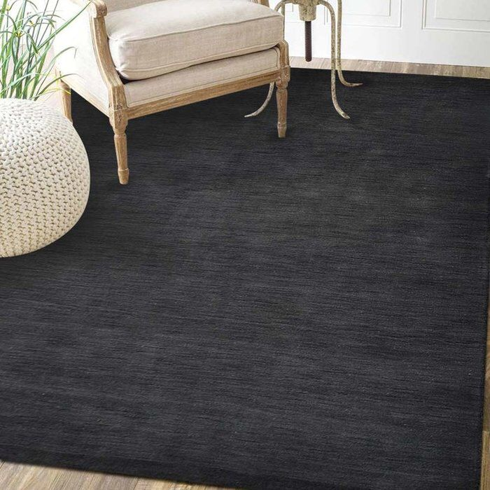 Delano Hand Knotted Wool Cotton Charcoal Area Rug Vintage Inspired Rugs Rugs Area Rugs