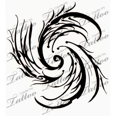 Tribal Tattoo Design - Storm. My own design inspired by the forces of nature Available on http://www.createmytattoo.com/FeldrenCloud #tribal #tattoo #storm