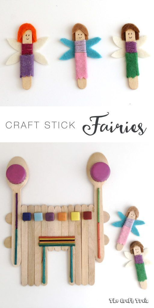 How to make a craft stick fairy castle