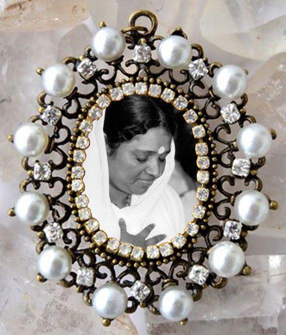 Amma Handmade Necklace Mata Amritanandamayi Jewelry Medal