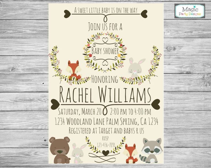 woodland animal baby shower invitation woodland baby shower woodland invitation rustic baby shower invitation forest baby shower