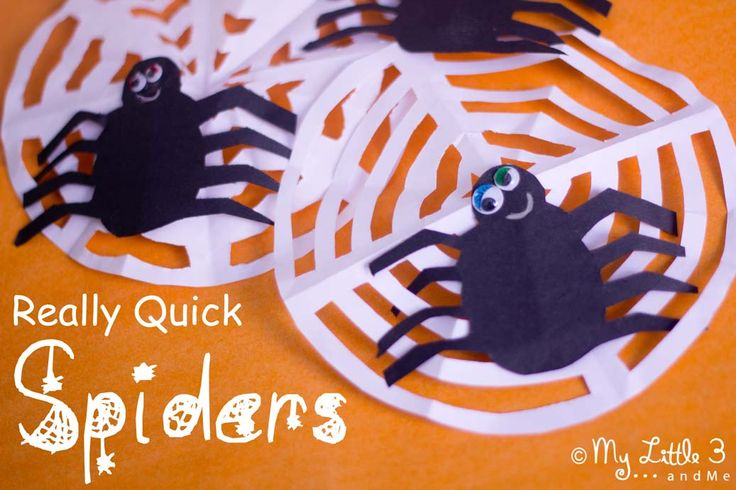 Halloween Spider Decorations from My Little 3 and Me