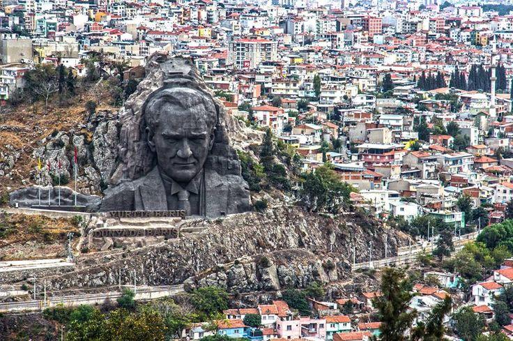 Atatürk watching over Izmir, Turkey