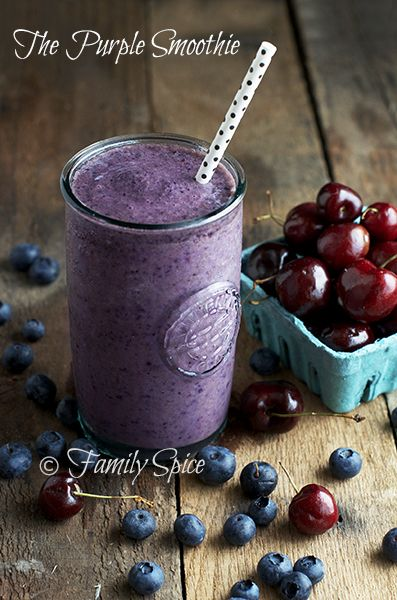 The Purple Smoothie by familyspice.com