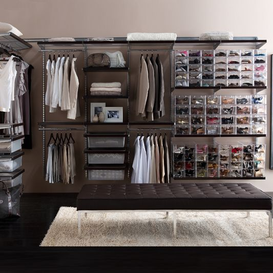 Howards Storage World | elfa Walk in Wardrobe-Platinum  #howardsstorage #mychristmaswishlist