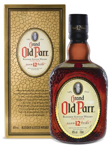 Whisky Blended Old Parr 12 anos Teor alcoólico: 40% Volume: 1.000 ml