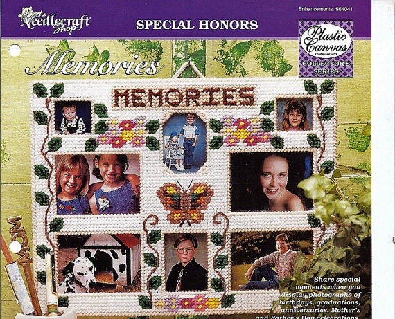 Memories Multiple Photo Frame Plastic Canvas by grammysyarngarden, $1.50