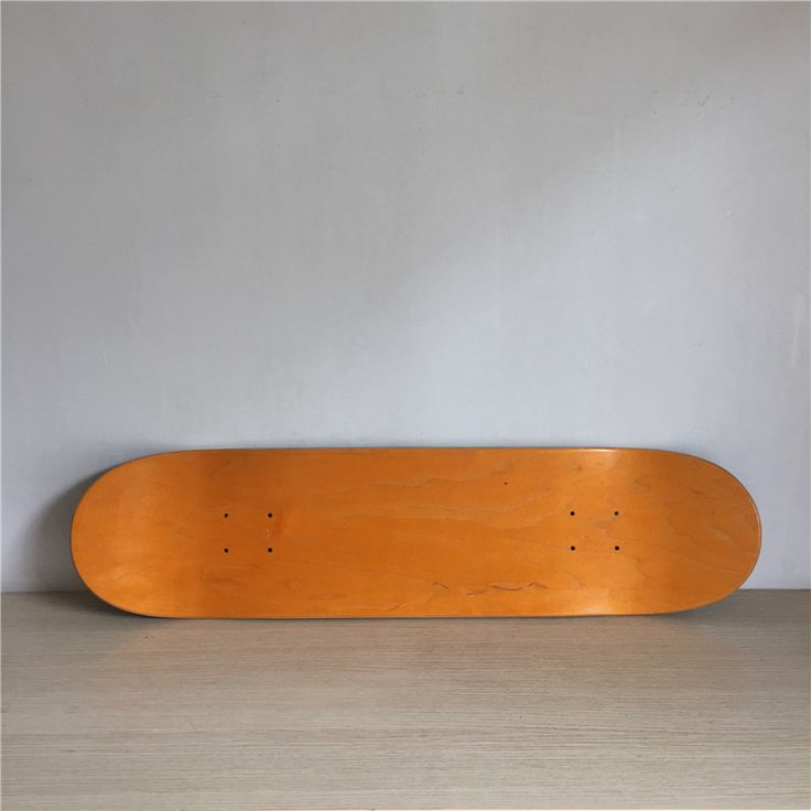 1PC 8inch Blank Skateboard Deck Orange/Black Colored 7 Layers Full Canadian Maple Skate Board Deck
