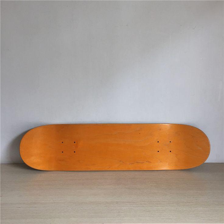 1PC 8inch Blank Skateboard Deck Orange/Black Colored 7 Layers Full Canadian Maple Skate Board Deck