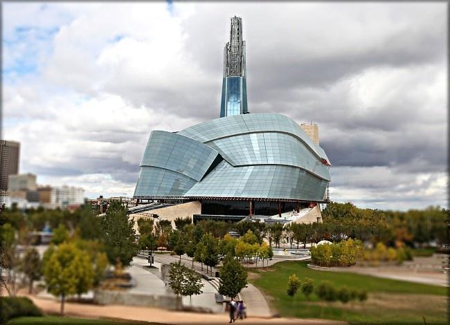 Canadian Museum for Human Rights.  Location - Winnipeg, Manitoba.