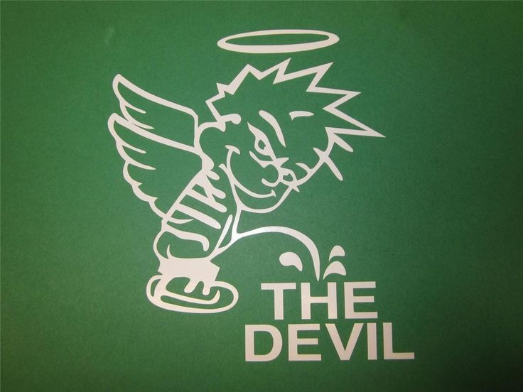 CALVIN PEEING  ON DEVIL~Decal Vinyl Sticker~Truck Laptop BUY 1 GET 1 FREE~SKU33 #ARLONSANTAANACA #CarTruckBoatWINDOWDecal