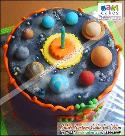 Solar System Birthday Cake Awesome Birthday Themes
