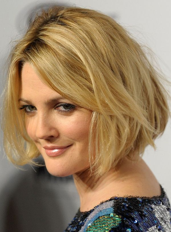 Short Bob Hairstyles | Drew Barrymore wearing blond bob hairstyle at the Tribeca Film ...