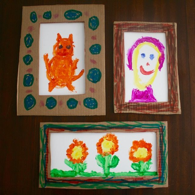 Kids can work with multiple art materials and challenge their brains with this Fill in the Frame Painting Activity inspired by Ellie by Mike Wu - offtheshelfblog.com