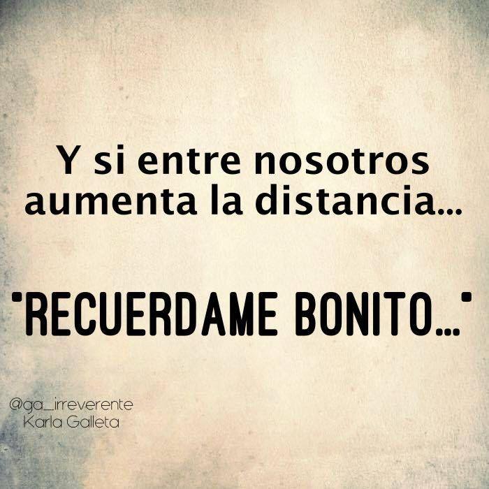〽️ Y si entre nosotros aumenta la distancia...
