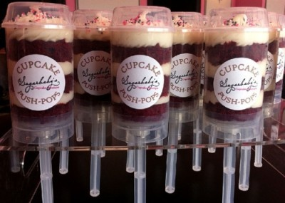 What a glorious idea: Cakes Pop, Cupcake Rosa-Choqu, Push Up Pop, Red Velvet, Cupcake Push, Oreo Pop, Cakes Push Pop, Push Pop Cupcake, Pushpop