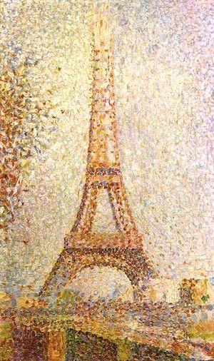 La Tour Eiffel, Huile sur toile, 1889  (Georges Seurat)