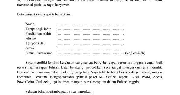 Contoh Surat Lamaran Kerja Tanpa Mengetahui Nama Perusahaan Enam Alasan Surat Lamaran Kerja Tak Direspons Contoh Surat Lamaran Kerja Surat Pendidikan Tulisan
