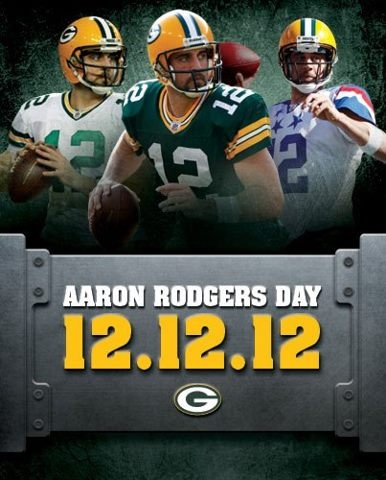 Arron Rodgers Day...What a day to celebrate....Yah!